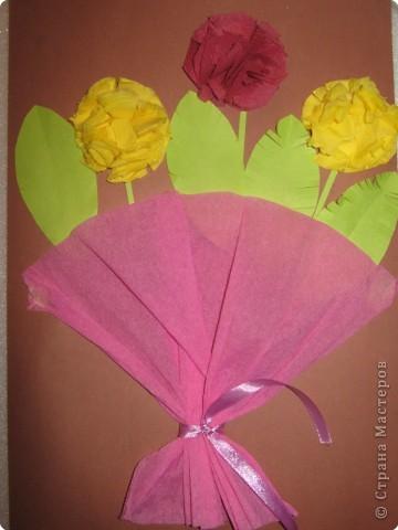 Аппликации цветов из гофрированной бумаги своими руками 10