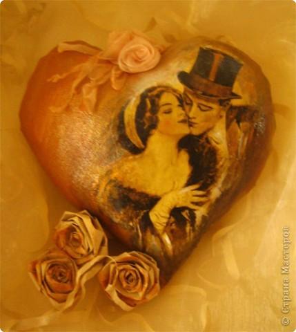 Декор предметов Декупаж: Ретро валентинки. Ткань Валентинов день. Фото 4