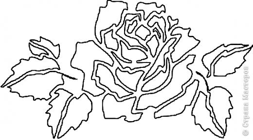 Вырезание: Ещё роза Бумага. Фото 3