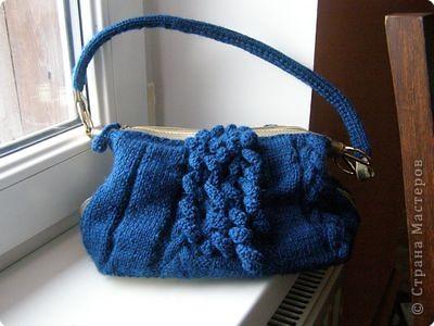 Вязаные крючком и спицами сумки.