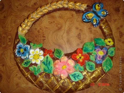 Корзинки с цветами из соленого теста мастер класс