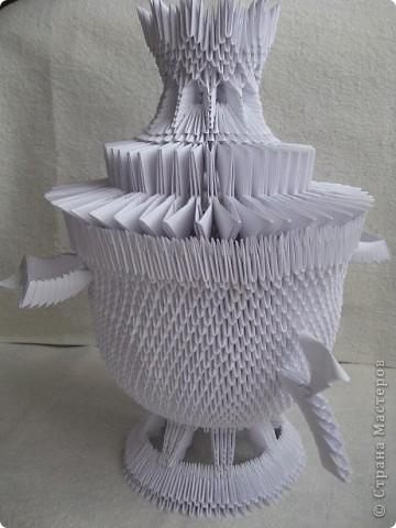 Оригами самовар с модулей