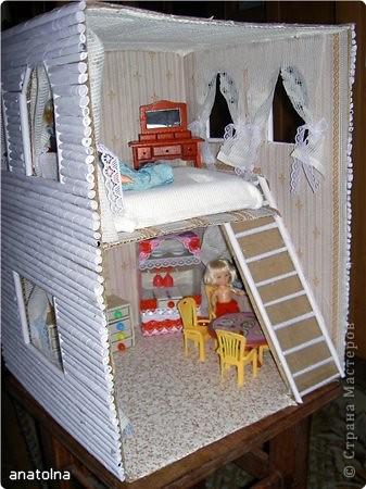 Как сделать домик для кукол своими руками из фанеры видео