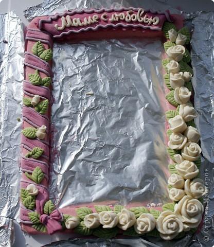 Рамочки Лепка: Рамочка для мамочки Тесто соленое 8 марта. Фото 2