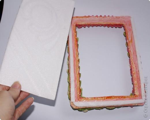 Рамочки Лепка: Рамочка для мамочки Тесто соленое 8 марта. Фото 3