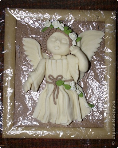 Лепка: Ангелочек с веночком Тесто соленое Валентинов день, Пасха, Рождество. Фото 2