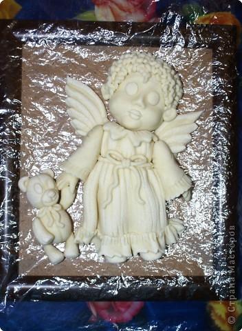 Мастер-класс Лепка: Ангелочек с мишкой Тесто соленое Валентинов день, Рождество. Фото 21