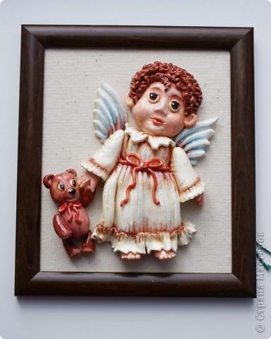 Мастер-класс Лепка: Ангелочек с мишкой Тесто соленое Валентинов день, Рождество. Фото 1