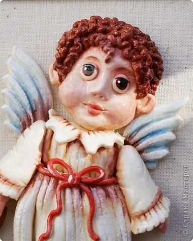 Мастер-класс Лепка: Ангелочек с мишкой Тесто соленое Валентинов день, Рождество. Фото 22