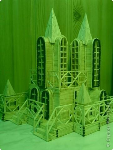 Поделки динамические Конструктор: Дворец Ветров из спичек Спички. Фото 1