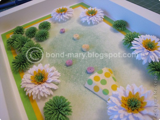 Мастер-класс Квиллинг: Летние хризантемы Бумага. Фото 17