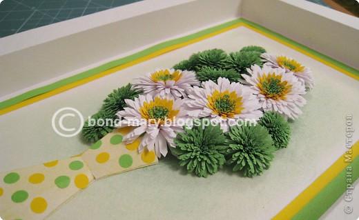 Мастер-класс Квиллинг: Летние хризантемы Бумага. Фото 5