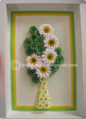 Мастер-класс Квиллинг: Летние хризантемы Бумага. Фото 2
