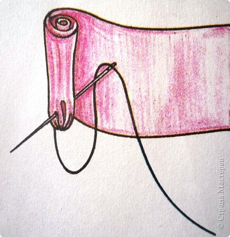 Мастер-класс Аппликация, Шитьё: Розовое панно из лент Картон, Ленты...