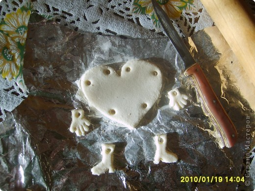 Мастер-класс Лепка: МК Валентинка из СОЛЁНОГ ТЕСТА Тесто соленое Валентинов день. Фото 2