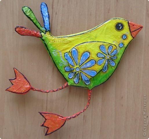 Папье-маше: Птицы. Папье-маше Бумага. Фото 1