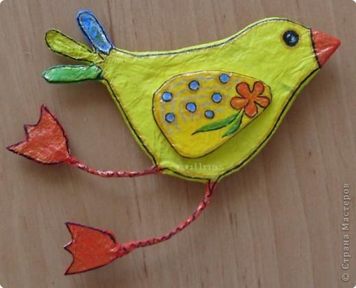 Папье-маше: Птицы. Папье-маше Бумага. Фото 3