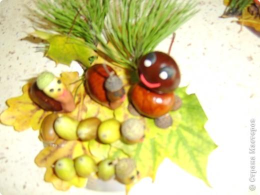 ...развитие: Поделки с детками на тему осень Гуашь, Жёлуди, Листья...