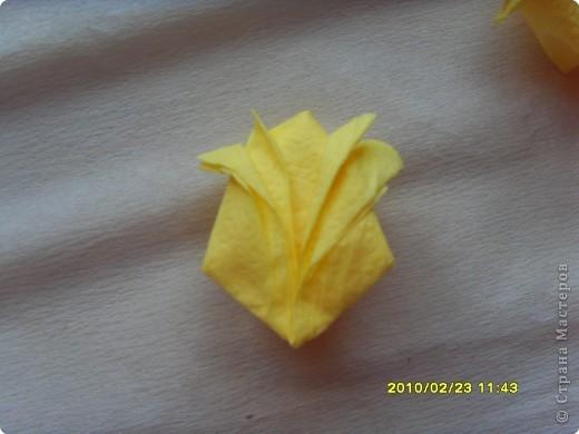Мастер-класс Аппликация:  МК. Ода о  тюльпане...и  салфетках Салфетки 8 марта. Фото 10