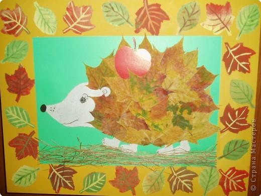 Поделки из клёновых листьев 138