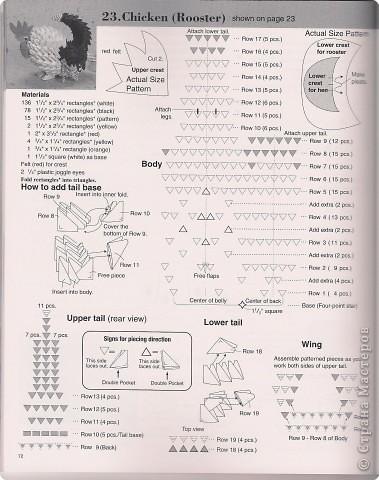 Оригами модульное: Cхемы курочки, петушка, барашика.  Бумага Пасха. Фото 14
