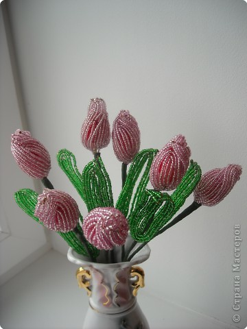 тюльпаны из бисера