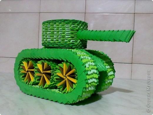 Модульное оригами схемы сборки танка.