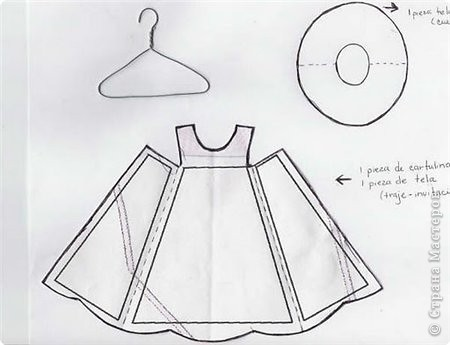 Открытка Аппликация: Открытки-платья Бумага 8 марта. Фото 4