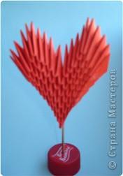 Мастер-класс Оригами модульное: Валентинка+МК схема Бумага Валентинов день. Фото 1