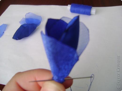Мастер-класс Шитьё: МК изготовления розы за 1 час Ткань. Фото 8