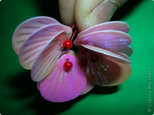 "Мастер-класс: цветы из пайеток ""ракушек"" МК Пайетки. Фото 14"