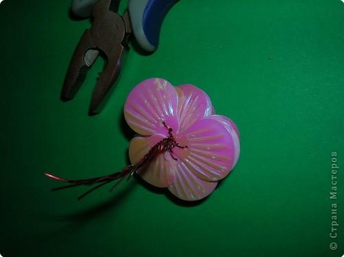 "Мастер-класс: цветы из пайеток ""ракушек"" МК Пайетки. Фото 15"