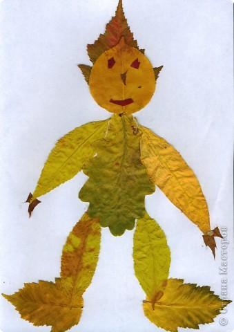 Поделки человечки из листьев для детей