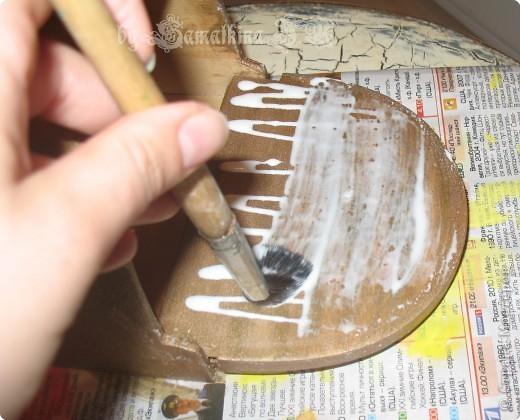Мастер-класс Декупаж: МК солонка, декупаж + кракелюр на ПВА!!! Салфетки. Фото 11