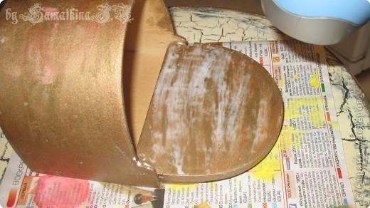 Мастер-класс Декупаж: МК солонка, декупаж + кракелюр на ПВА!!! Салфетки. Фото 12