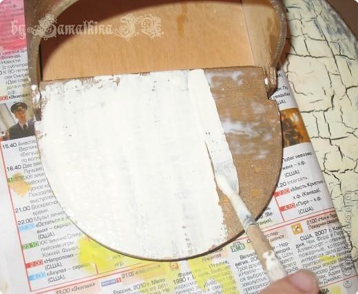 Мастер-класс Декупаж: МК солонка, декупаж + кракелюр на ПВА!!! Салфетки. Фото 13