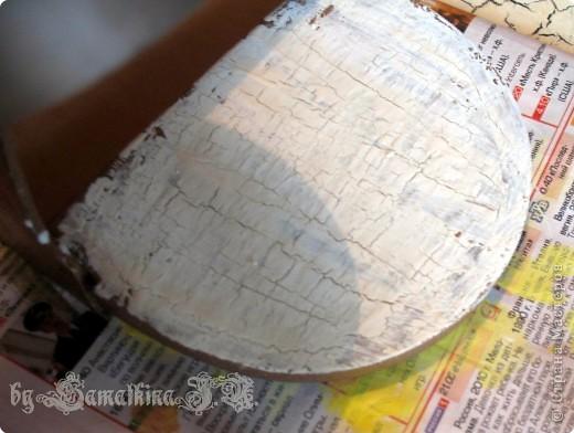 Мастер-класс Декупаж: МК солонка, декупаж + кракелюр на ПВА!!! Салфетки. Фото 14
