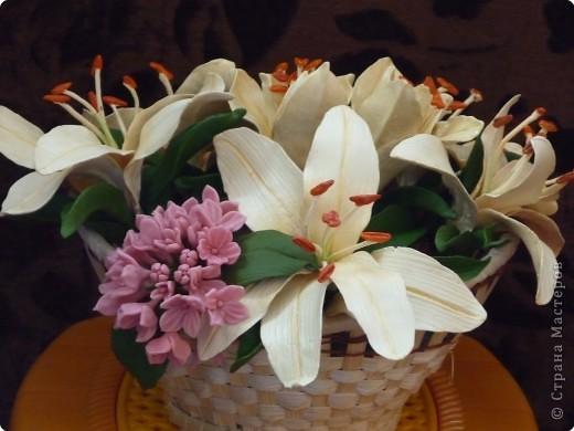 Мастер-класс Лепка: МК как сделать лилию Фарфор холодный.<br /> <center>