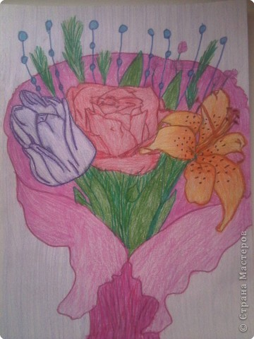 как рисовать аниме цветы: