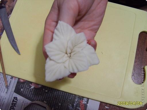 Мастер-класс Лепка: МК.гладиолус из соленого теста Тесто соленое. Фото 9