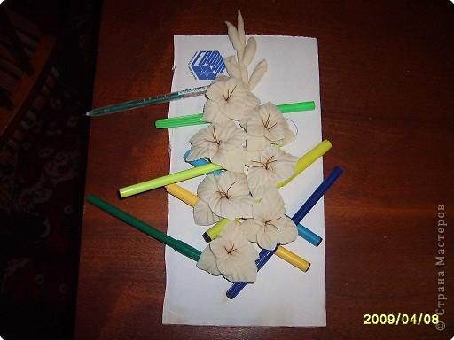 Мастер-класс Лепка: МК.гладиолус из соленого теста Тесто соленое. Фото 11