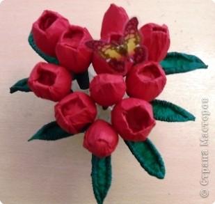 Тюльпаны из пластиковых бутылок своими руками мастер класс