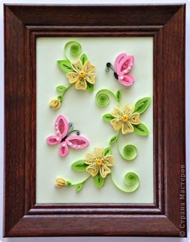 Квиллинг: Весна (бабочки) Бумага. Фото 2