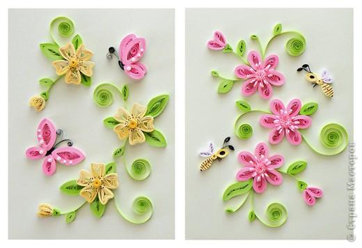 Квиллинг: Весна (бабочки) Бумага. Фото 3