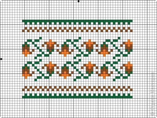Графика компьютерная: Схема для вышивки кресла-игольницы. Фото 6