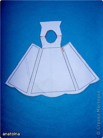 Открытка Аппликация: Открытки-платья Бумага 8 марта. Фото 3