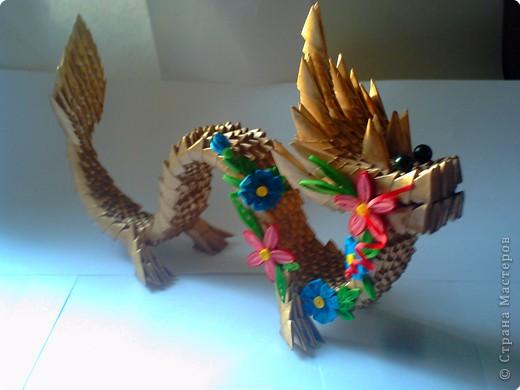 оригами дракон модульное. оригами самоучитель.