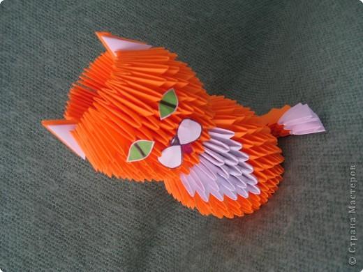Поделка, изделие Оригами модульное: Кот Тимофей ))) Бумага.