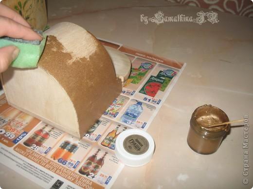 Мастер-класс Декупаж: МК солонка, декупаж + кракелюр на ПВА!!! Салфетки. Фото 5