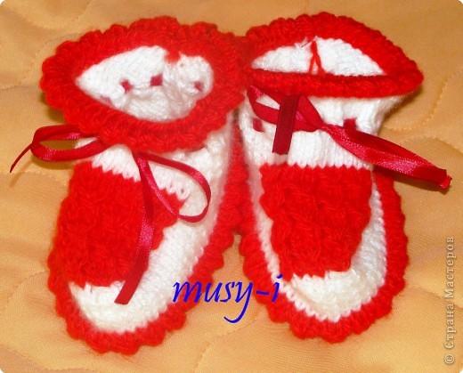Вяжем пинетки спицами - схемы вязания. как вязать детские пинетки.